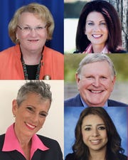 State Senate District 28 special election candidates: clockwise from the top, Lisa Middleton, Melissa Melendez, Dana Reed, Elizabeth Romero, Joy Silver