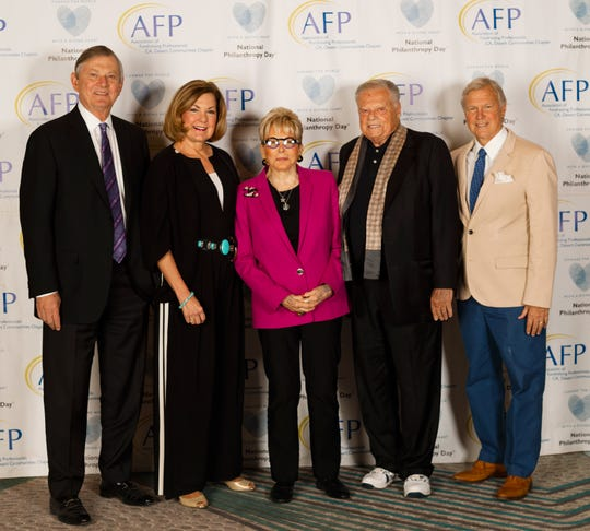 Aubrey Serfling, Betty Wolf, Sally Berger, Harold Matzner and Michael Landes supported National Philanthropy Day.