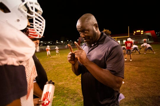 Palm Springs High School football coach Tahari Reed went to Palm Springs High School and returned to coach his alma mater team and has been there nearly two decades.