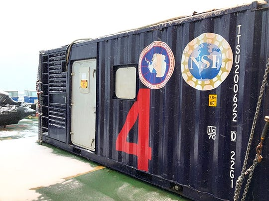 """The """"Radvan,"""" a shipping container that has been transformed into a portable laboratory"""