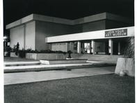 The Phoenix Art Museum at night, circa 1965.