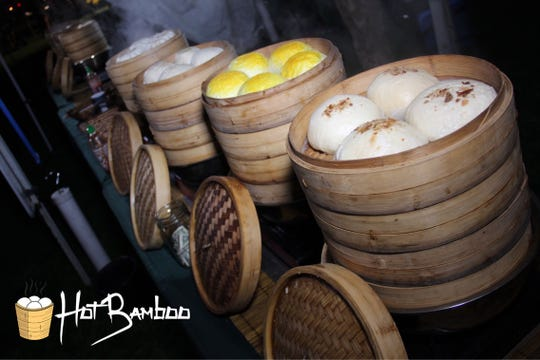 Hot Bamboo serves steamed buns and dumplings at events.