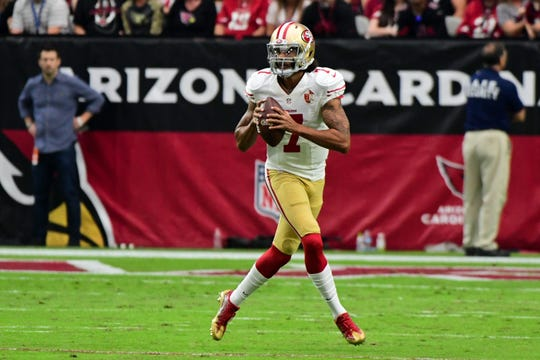 Would former San Francisco 49ers quarterback Colin Kaepernick (7) be a good fit as the backup QB for the Arizona Cardinals?