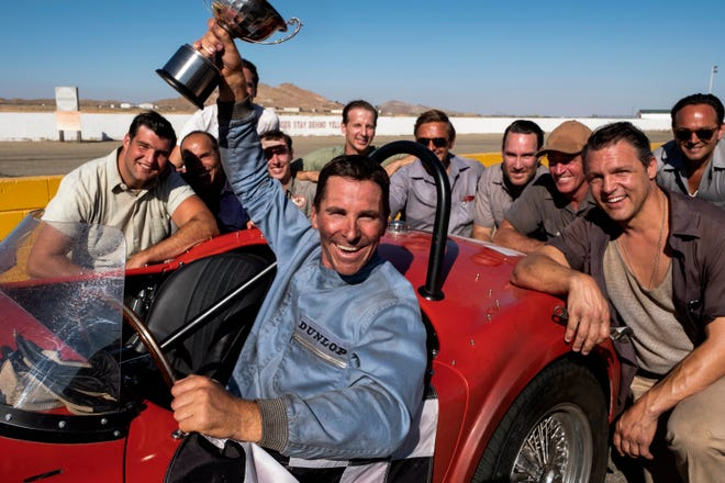 """Christian Bale plays racecar driver Ken Miles in the upcoming film """"Ford v Ferrari."""" The movie will be shown Friday, Feb. 14, at the Glenwood Community Library."""