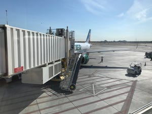 The first Frontier Airlines flight between Phoenix and San Diego departed on Nov. 14, 2019.