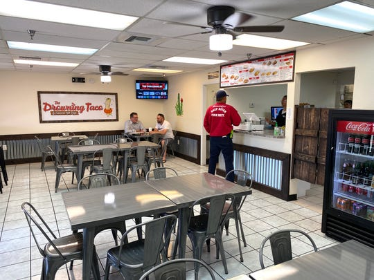 The interior of The Drowning Taco in Chandler.