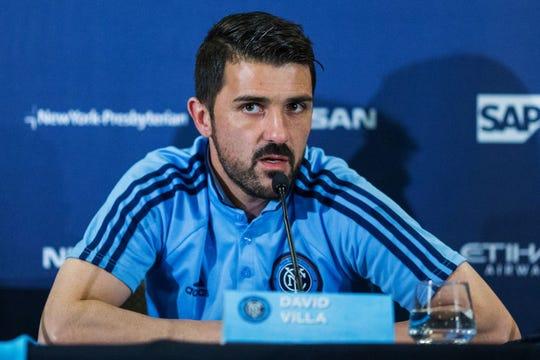 El español David Villa anunció su retiro de las canchas.