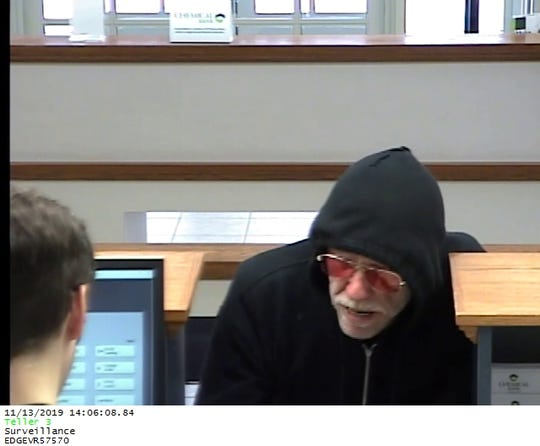 Surveillance photo of the robbery suspect.