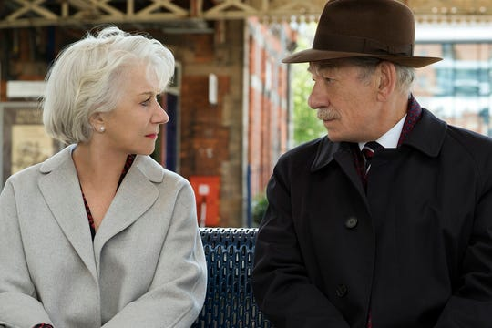 "Ian McKellen, right, and Helen Mirren star in ""The Good Liar."" The movie opens Friday at Regal West Manchester, Queensgate Movies 13 and R/C Hanover Movies 16."