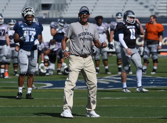 Nevada head coach Jay Norvell is entering his fifth season leading the Wolf Pack.