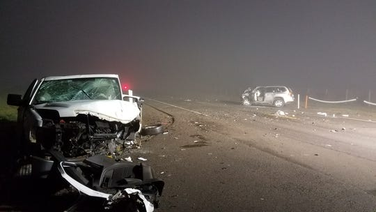 Two people were taken to hospitals following a head-on collision on Highway 99E Wednesday evening.