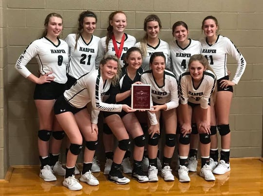 The Harper High School volleyball team is one of four teams that will compete in the Region IV-2A Volleyball Championships Nov. 15-16, 2019, in Brenham, Texas.