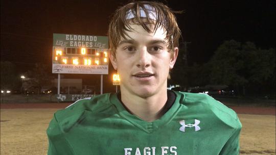 Eldorado High School's Cooper Meador was the Standard-Times Week 11 Player of the Week in 2019
