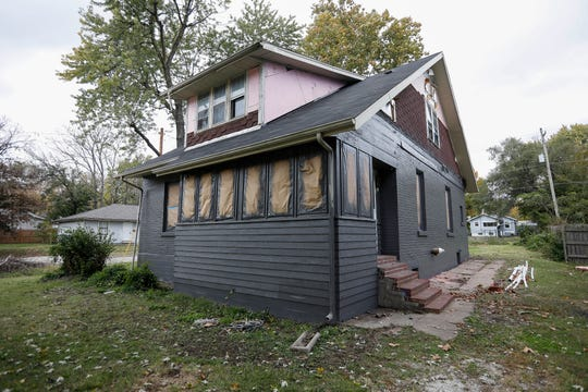 This home at the intersection of Scott Street and Fairbanks Avenue is being rehabilitated for low-income residents.