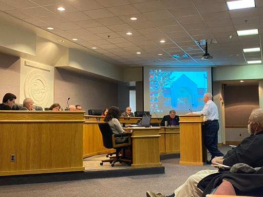 Augusta County Fire-Rescue Chief David Nichols presented plans Thursday night for a fire engine purchase.