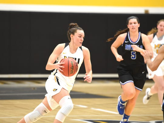 Leah Calhoun will miss the rest of the Mary Baldwin basketball season after rupturing her Achilles tendon.