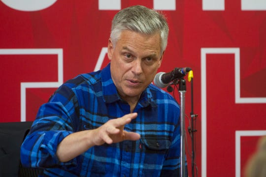 Former Utah Gov. Jon Huntsman speaks at Southern Utah University Thursday, Nov. 14, 2019.