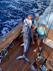 Swordfish, like this one caught aboard Unbelievable with Capt. V.J. Bell of Stuart Big Game Fishing, have been biting really good between Jupiter and Port St. Lucie in 1400-1500 feet of water.