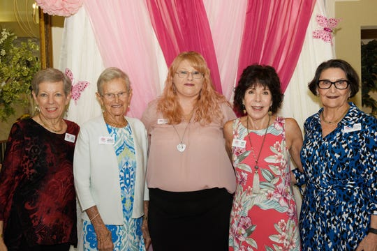 Friends In Pink Board of Directors Vivien Coniglio, left, Madeline Herrmann, Danielle Shalginewicz, President Karen Miret and Rosemary Notarantonio at the Friends In Pink Luncheon on Oct. 26, 2019, at the St. Lucie Trail Golf Club in Port St. Lucie.