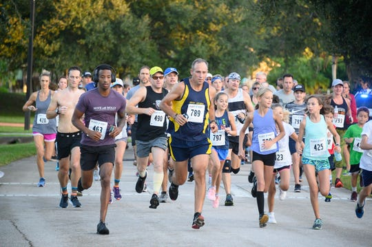 "Starting strong: Runners hit their stride in the 2019 ""Run for the Village"" 5K & Fun Run, in support of Palm City's Village Club & Preserve on Oct. 5, 2019."