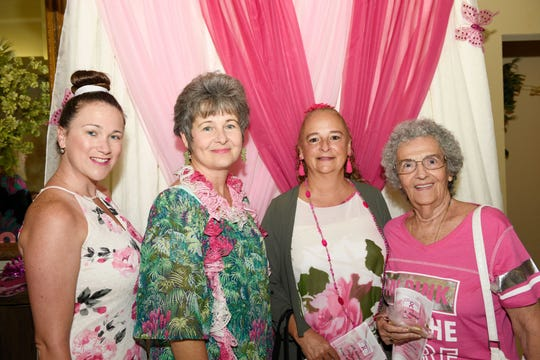 Expert Shutters representatives Megan Heissenberg, left, Joan Zamora and Jamie and Joan Heissenberg at the Friends In Pink Luncheon on Oct. 26, 2019, at the St. Lucie Trail Golf Club in Port St. Lucie.