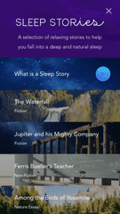Screen shots from the Calm app