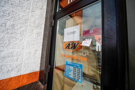 "A ""CLOSED"" sign hangs on the door at A&W restaurant at 1205 Merrill Ave. in Wausau, Wisconsin, on Thursday, Nov. 14, 2019. Owner Gary Schwartz said he doesn't know if the restaurant will reopen."