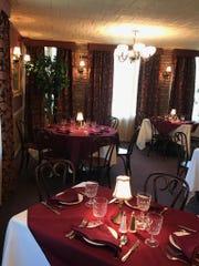 The dining room at da Nina Italian Restaurant in Suffern.