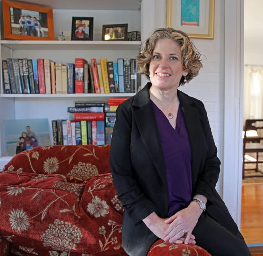 Alison Fine joins a the race to replace U.S. Rep. Nita Lowey's House seat. Fine was photographed at her home in Sleepy Hollow Nov.13, 2019.