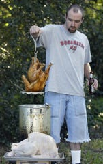 Deep-fried turkey at home for Thanksgiving can be a little scary. Johnnie's Dog House & Chicken Shack on Concord Pike in Talleyville is selling deep-fried, 14-pound turkeys for $65. Pre-ordering is required.