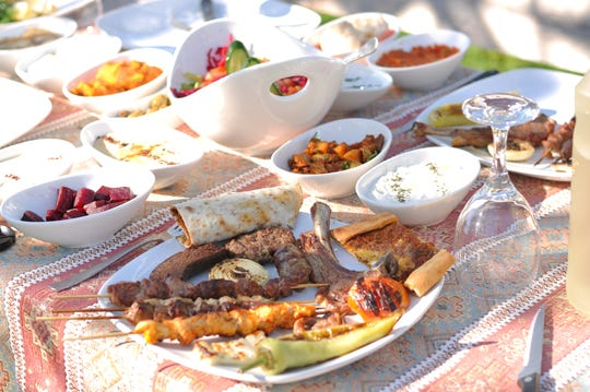Traditional Cypriot mezze and kebap (barbecue) are a good way to sample the local cuisine.