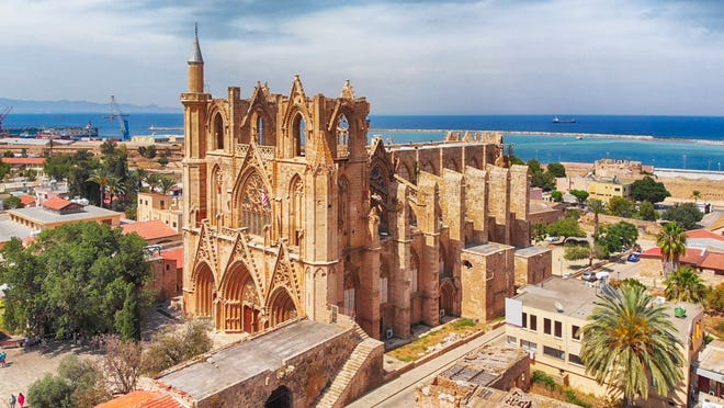 The Lala Mustafa Pasha Mosque, originally known as the Cathedral of Saint Nicholas and later as the Ayasofya Mosque of Magusa, is the largest medieval building in Famagusta, on Cyprus' northeast coastline.