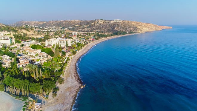 Cyprus' 300 days of sunshine per year allow ample opportunity to explore the coastline at places like Pissouri Bay on the island's south side.