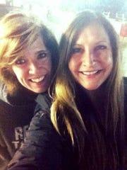 Liz Brown, left, and Debi Courtney in an undated photo.