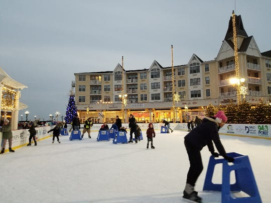 Views of 'Ice at the Pier' in Long Branch's Pier Village.