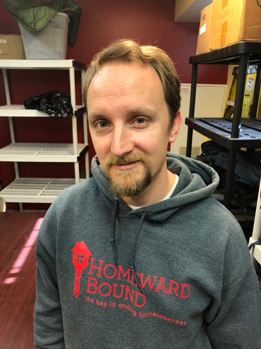 Robert Stevenson is the downtown outreach case manager for Homeward Bound.