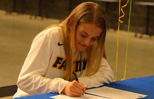 Olympic High softball player Molly Gates signed a national letter of intent this week. The 2019 Kitsap Sun softball player of the year will play at North Dakota State University next year.