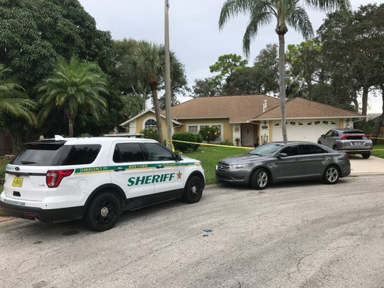 Brevard County detectives were present at the scene of a death investigation in Palm Shores on Friday, Nov. 15, 2019.