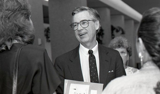 "Fred Rogers of ""Mister Rogers' Neighborhood"" spoke at the Conference of Southwest Foundations annual meeting on May 13, 1988 held at the Hershey Hotel in Corpus Christi."