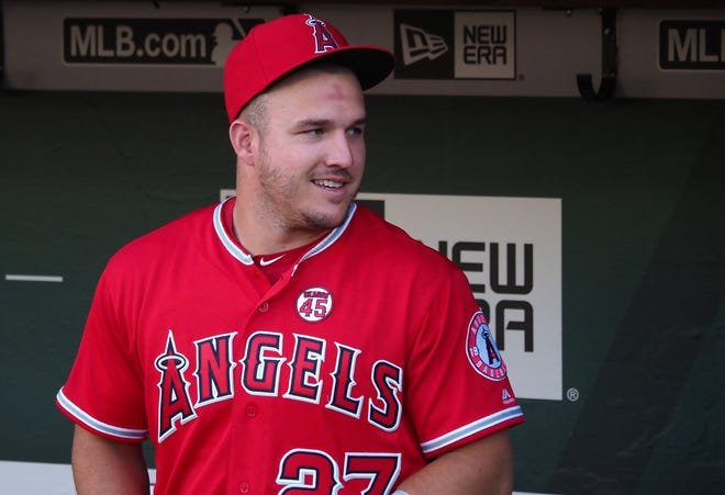 Millville's Mike Trout announced that he and his wife, Jessica, are going to be parents. They are expecting a son in August.