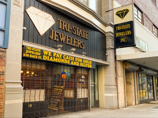 Nov. 15, 2019: Tri-State Jewelers at 630 Race Street, Downtown, was raided by federal agents on Thursday, Nov. 14, 2019.