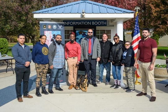 Jason Pryor, a senior from Elizabeth majoring in exercise science, did tours in Iraq and Honduras and suffers from PTSD. He received the K-9, named Keen, at the start of the Fall semester as a gift from the Kean Office of Student Government.
