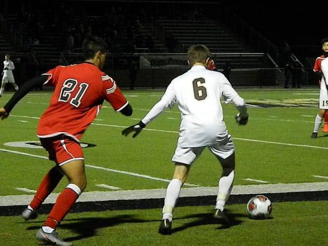 Rahway vs. Delran boys soccer in the NJSIAA Group IV semifinals on Thursday, Nov. 14, 2019 at Hopewell Valley.