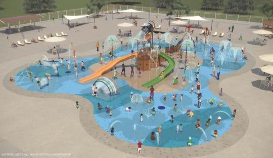 Rendering of Piscataway Spray Park.