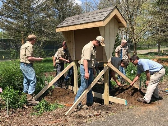 Horticulture Information Station construction