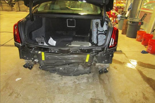Amanie MokdadÕs 2018 CT6 sedan is still awaiting parts for repairs after a driver rear-ended her on September 1.