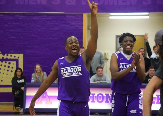 In this Oct. 24, 2019 photo, Zachary Winston cheers during Briton Madness in Kresge Gymnasium. Winston died Nov. 9 by suicide.