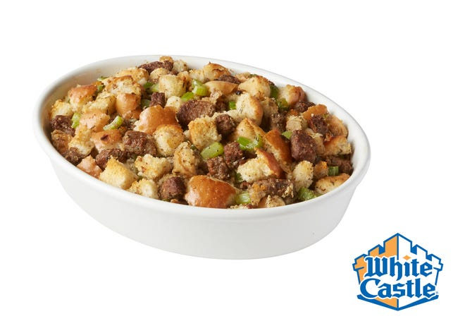 White Castle stuffing with Impossible Slider.