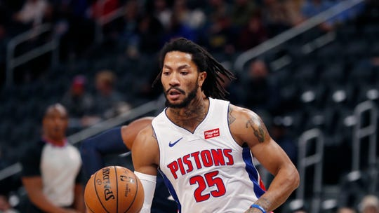 Derrick Rose started for the Pistons Tuesday, despite Dwane Casey's preseason insistence that Rose would stay with the second unit.