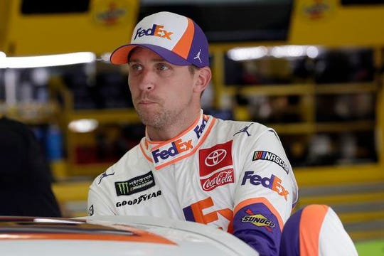 Denny Hamlin is one of a trio of Toyota drivers who will race for the title on Sunday.